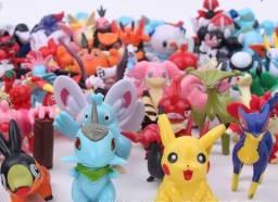 Miniaturas pokemon kit com 24 unidades coleção