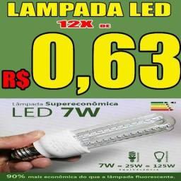 Lâmpada Led 7w Bivolt E27 90% Mais Econômico Vida útil até 50 vezes maior