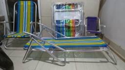 Cadeira de praia em alumínio