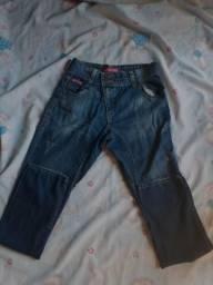 Calça masculina 36, fundo folgado