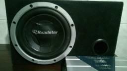 Sub de 12 Roadstar no box 100% mais módulo