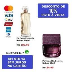 Perfumes femininos Natura Essencial ou Ilia Secreto