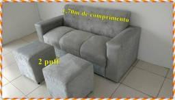 Combo sofá + puffs