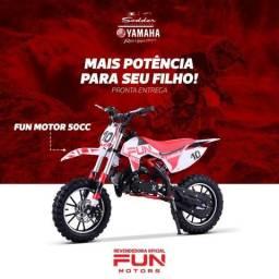 Mini moto 50 cc com partida eletrica Crianças até 6 anos - 2018