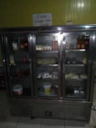 Freezer 3 portas semi novo