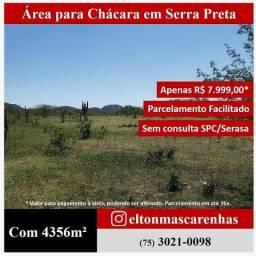 Área para chácara em Serra Preta perto de Feira de Santana