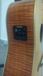 Violão Folk HMP350 captador Fishman top