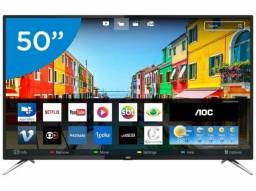 Smart TV 50 4K AOC | Novo Lacrado + Nf