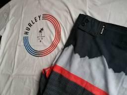 Kit camiseta e bermuda surf