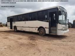 Ônibus VW 16.210 ano fab./mod. 2000 com motor MWM X10/6 Turbinado e carroceria Busscar - 2000