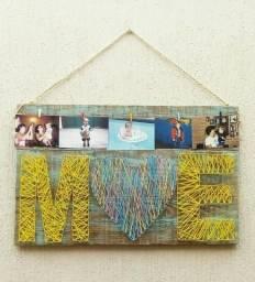 Quadro Painel De Fotos Decorativo De Madeira Mãe