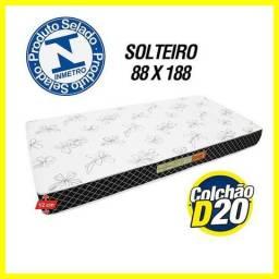 Colchao D20 solteiro 78 X 188 x 12