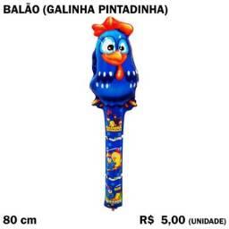 Balão Galinha Pintadinha com Sininho