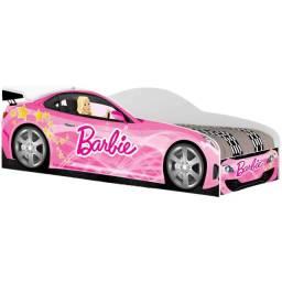 Cama Infantil Juvenil Barbie Carro Rosa