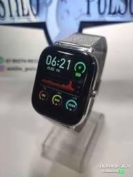 Smartwatch DT35 (P8 PRO) - Faz e Recebe Chamadas/Troca Pulseira/Exibe Mensagens