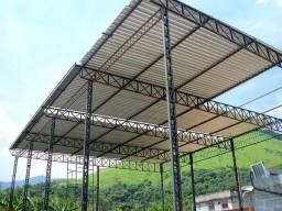 Estruturas metálicas,tesouras, pés direitos, arcos R$=150,00 por m.linear