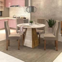 Mesa 4 Cadeiras Redonda 1035x1035