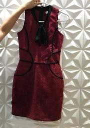 Vestido vinho (Tam.P)
