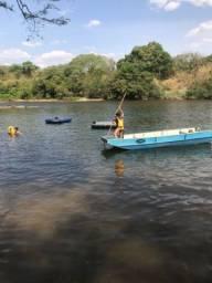 Chácaras na beira do rio parauna