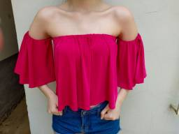 Blusa estilo ciganinha Rosa