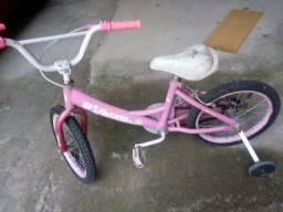 Bicicleta rosa aro 16