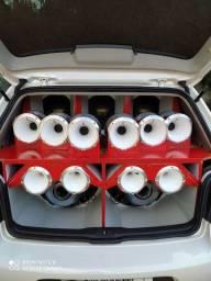 Som de mala automotivo, Compatível com Mala de Golf 99 á 2014