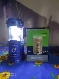 Lanterna luminária recarregável
