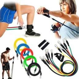 Extensor elástico fitness completo treino funcional, ginástica, Pilates, exercício