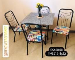 Título do anúncio: Conjunto Mesa de Granito c/ Cadeiras *