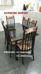 Mesa de 6 cadeiras Novas
