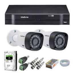 Sistema de cameras Intelbras,com visualizacao na tv,e no celular.
