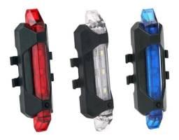 Lanterna traseira para bike recarregavél