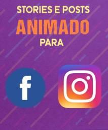 Stories e Posts animados p/ Instagram e Facebook
