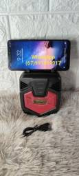 Caixinha de som kimisso com Bluetooth e entrada USB.