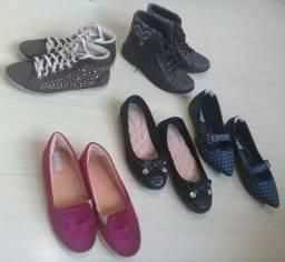 Lote de calçados tam 35 e 36