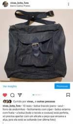 Bolsa tiracolo jeans azul 10 reais