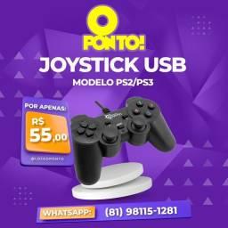Título do anúncio: Joystick USB para PC / TV Box Modelo PS2/3