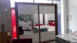 Guarda Roupa Casal 2 Portas e Espelho