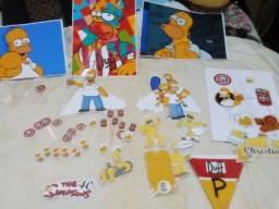 Título do anúncio: Lindo Kit festa em casa nunca usado Homer Simpson