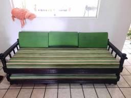 Sofá Cama de madeira rústica