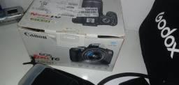 Kit canon t6 + 4 rádios flash + 2 flashs + softbox 80x80 + .....