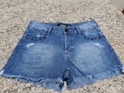 2 Shorts Jeans da Trama numeração 40