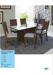 mesa new charm 6 cadeiras  zap *