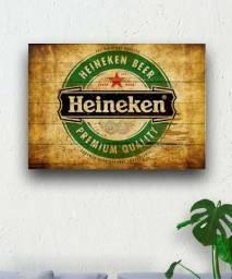 Quadro placa decorativa cerveja Heineken