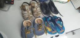 Lote de sandalias pra bb