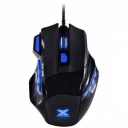 mouse gamer vx gaming black widow 2400 dpi preto com azul usb