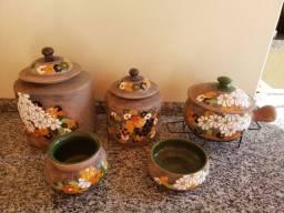 Conjunto para feijoada de cerâmica de barro