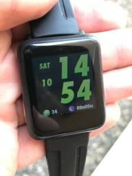 Relógio Smartwatch M28 - com medidor de frequência cardíaca