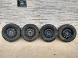 Jogo de rodas 13 de ferro semi novas originais do corsa