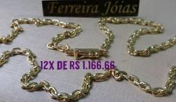 Título do anúncio: Corrente cordão cartier cadeado em ouro 18k